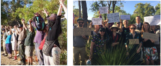 Roe8 protestors